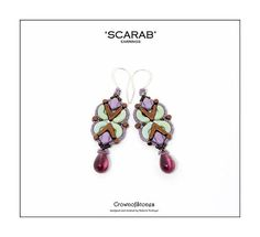 Bead pattern DIY Scarab earrings made with AVA by CrownofStones