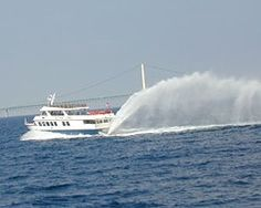 Starline Mackinac Island Ferry...Love the rooster tail spray! Enjoy the ride to the Island.