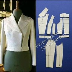 Tremendous Sewing Make Your Own Clothes Ideas. Prodigious Sewing Make Your Own Clothes Ideas. Coat Pattern Sewing, Blazer Pattern, Coat Patterns, Dress Sewing Patterns, Jacket Pattern, Clothing Patterns, Fashion Sewing, Diy Fashion, Pattern Draping