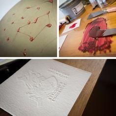L'atelier encré prépare ses impressions! #letterpress #printing #cards www.latelier-encre.com