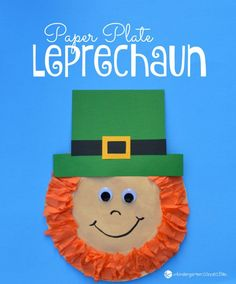 Paper Plate Leprechaun | Featured in the Best St. Patrick's Day Crafts for Kids Roundup!{OneCreativeMommy.com}