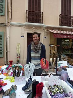 "The gorgeous Elios from the shop Couleur Brazil selling ""Melissa' shoes in the streets of St tropez"