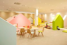Indoor playground conceived as a colorful miniature town: http://www.playmagazine.info/indoor-playground-conceived-as-a-colorful-miniature-town/