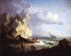 Seashore with Fishermen, 1781-1782 - Thomas Gainsborough