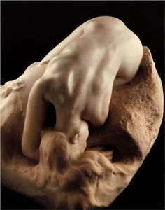 Danaid (1885) ~ Auguste Rodin. I can't fathom how Rodin makes marble look so soft
