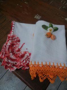 Pano de Copa e Cozinha com detalhes em crochet