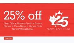 Staples Copy & Print Canada 25th Anniversary Sale: Save 25% off Photo Gifts Business Cards Photo Books Poster... http://www.lavahotdeals.com/ca/cheap/staples-copy-print-canada-25th-anniversary-sale-save/126342