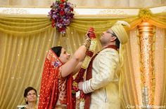 indian wedding ceremony groom bride http://maharaniweddings.com/gallery/photo/9651