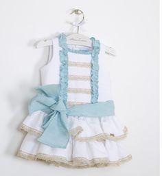 Vestido algodón brocado | Aiana Larocca Moda Infantil