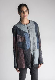 By Walid Zaina Cardigan in Pewter