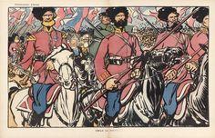 Caran d'Ache 1902 Emile le Bienvenu, Cossacks Military, Russian Soldier Horse