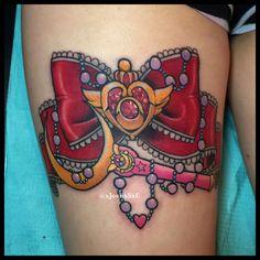 Sailor Moon leg tattoo