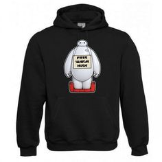 "Kapuzen Sweatshirt ""Free Warm Hugs"" Fruit of the Loom, Beuteltasche, 80% Baumwolle"
