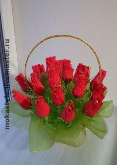 """Букеты ручной работы. Ярмарка Мастеров - ручная работа Букет из конфет """"Бутоны роз"""". Handmade."""