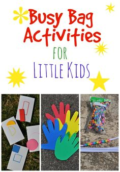 Busy Bag Activities - a few simple ways to entertain your little ones quietly (great for summer travel!)