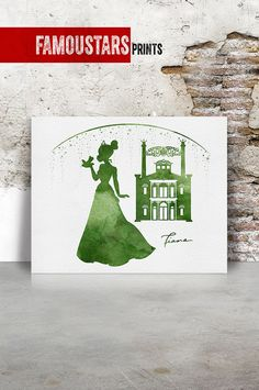 Tiana poster Print Princess & the Frog Disney by FamouStarsPrints