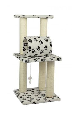 Surface Material: Faux Fur Color:Paw Print Board Material: Pressed Wood Overall Dimension: x x Post Diameter: