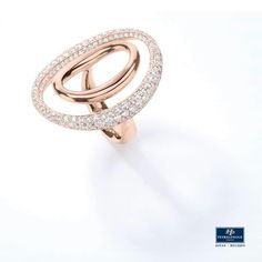 #JoyasPeyrelongue Anillo con diamantes en oro rosa de 18 kt. #jewelry / #luxury / #newchic / #fancy / #elegant / #joyas / #style / #cute