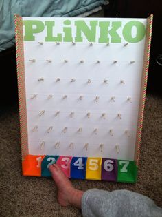 Foam Board Plinko Game