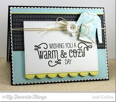 Cozy Greetings, Nordic Knits, Sweater Stitch Background, Comfy Sweater Die-namics, Blueprints 20 Die-namics, Stitched Rectangle STAX Die-namics - Jodi Collins #mftstamps