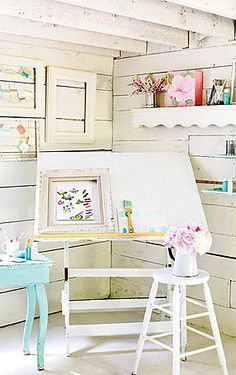 Great bright space for a drawing board.