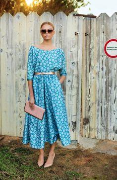Tea length vintage inspired dress
