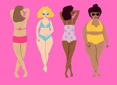 Illustration / gouache painting of sunbathing babes Positive Art, Positive Body Image, Body Image Art, Bee Illustration, Body Study, Creative Pictures, Gouache Painting, Instagram Girls, Girl Body