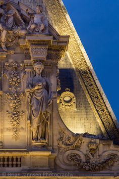 Ornate Roof on Musee du Louvre, Paris, France. © Brian Jannsen Photography #FredericCla
