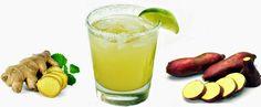 Suco de Limão, Gengibre e Batata Doce Roxa