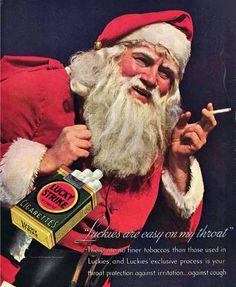 Cigarette ad with Santa