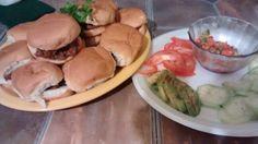 Sloppy Joe Sliders n toppings #DinnerIsServed #Yummy