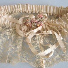 1920's Bridal Garter~ New York Vintage Linens