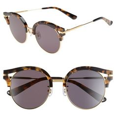 Gentle Monster 50mm Retro Sunglasses ($265) ❤ liked on Polyvore featuring accessories, eyewear, sunglasses, glasses, uv protection glasses, retro style glasses, retro eyewear, vintage eyewear and lens glasses