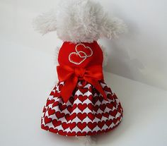 Dog Clothes Dog  Dress Valentine Hearts: Chihuahua Yorkie on Etsy, $18.00