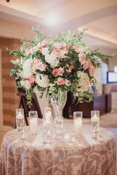 Featured Photographer: Shaun Menary Photography; wedding centerpiece idea