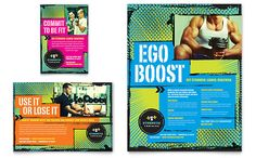 Strength Training Flyer & Ad Template Design | StockLayouts