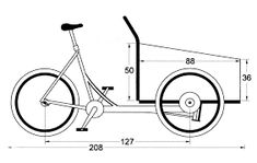 build a cargo trike yourself Motorcycle Trailer, Trike Motorcycle, Bike Trailer, Bicycle Cart, Trike Bicycle, Velo Cargo, Bike Food, Tricycle Bike, Solar Car