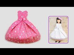 VESTIDO / Origami bride dress/ พับชุดกระโปรงเจ้าสาว - YouTube
