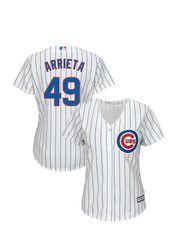 Jake Arrieta Chicago Cubs Womens Replica Cool Base Home Jersey