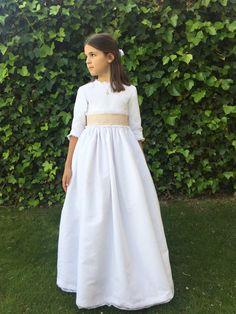 Vestido de #Comunión hecho por #LeonorySofía www.leonorysofia.com http://blog.leonorysofia.com/