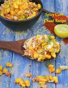 Spicy Corn Chaat Recipe, Masala Corn Snack