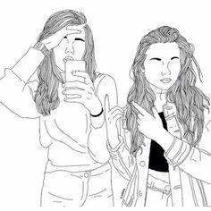 Art girl drawing We Heart It