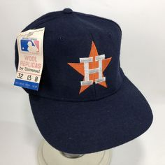 332184a2b6e Hat is navy with a great looking Houston Astros graphic on the front! Hat  also has an adjustable band!Great looking cap!