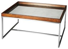 Eastwood Modern Rectangular Cocktail Table Multi-Color