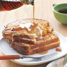 Cheese-and-Marmalade French Toast Sandwhiches.  Something new and yummy for breakfast