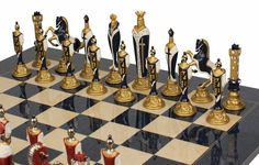 Browse Excellent metal chess sets, chessmen and other metal chess sets from the finest craftsmen #ChessBoardwithMetalChessMen #WoodenChessPieces #onlinechessshops