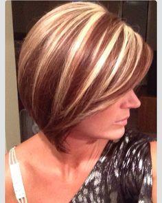blonde chunky highlights short hair - Google Search