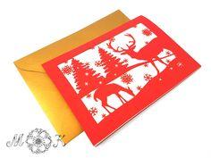 Schneidedatei / Plotterdatei Faltkarte Hirsch (Weihnachtskarte) – Miri's Kreativblog