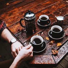 """cupcakecraig: """" freshbrewedlife: """" Mad Cap Coffee """" Coffee and the rain. Two of my faves """""""