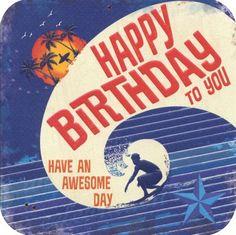Birthday card - 'Birthday Surf'